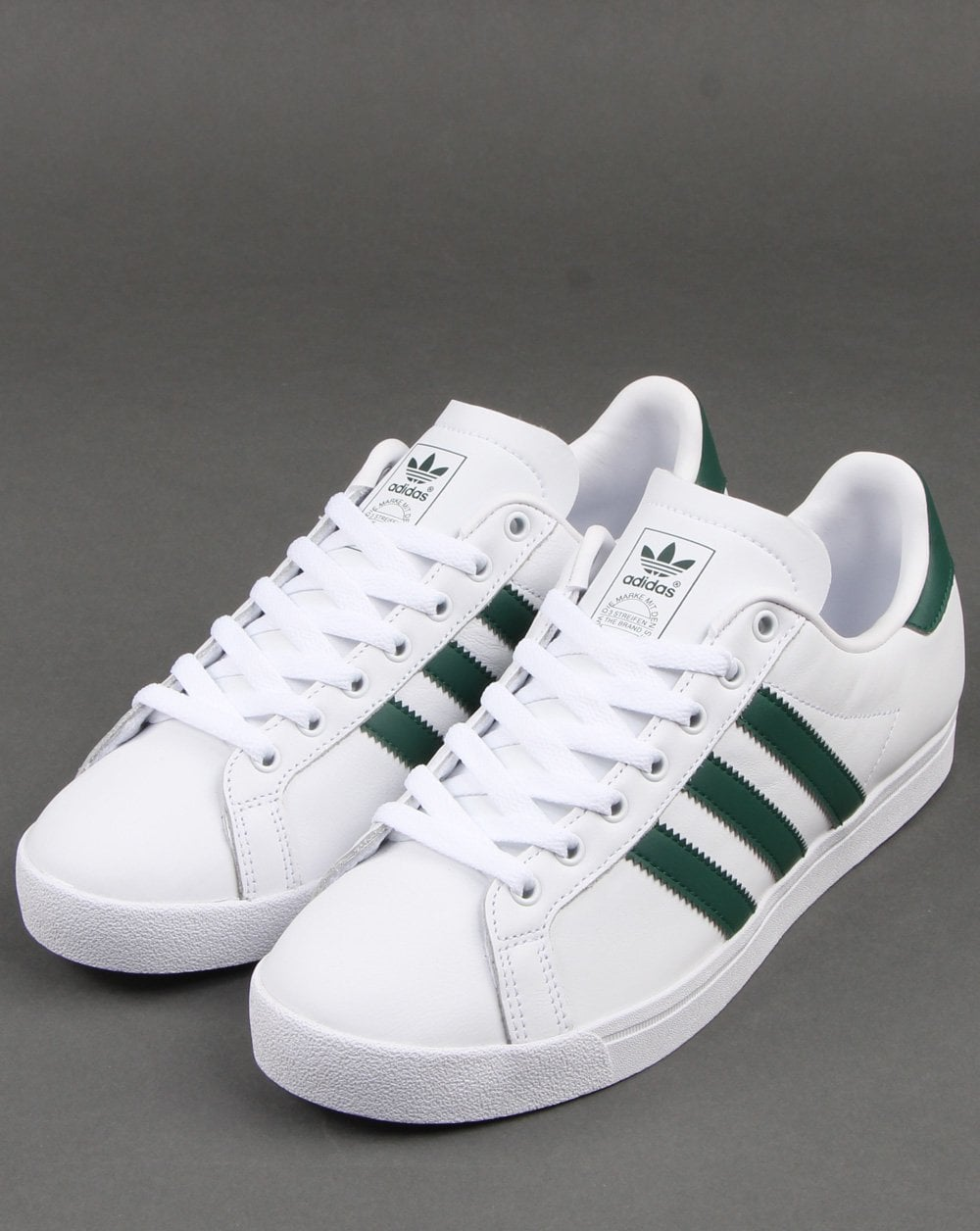 Duque incompleto fascismo  adidas Coast Star Trainers in White and Green | 80s Casual Classics