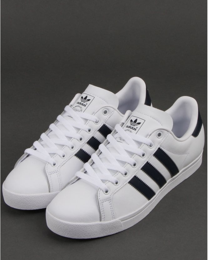 d1d0f32f3d9 Adidas Coast Star Trainers White Navy - Shop Adidas Trainers At 80sCC