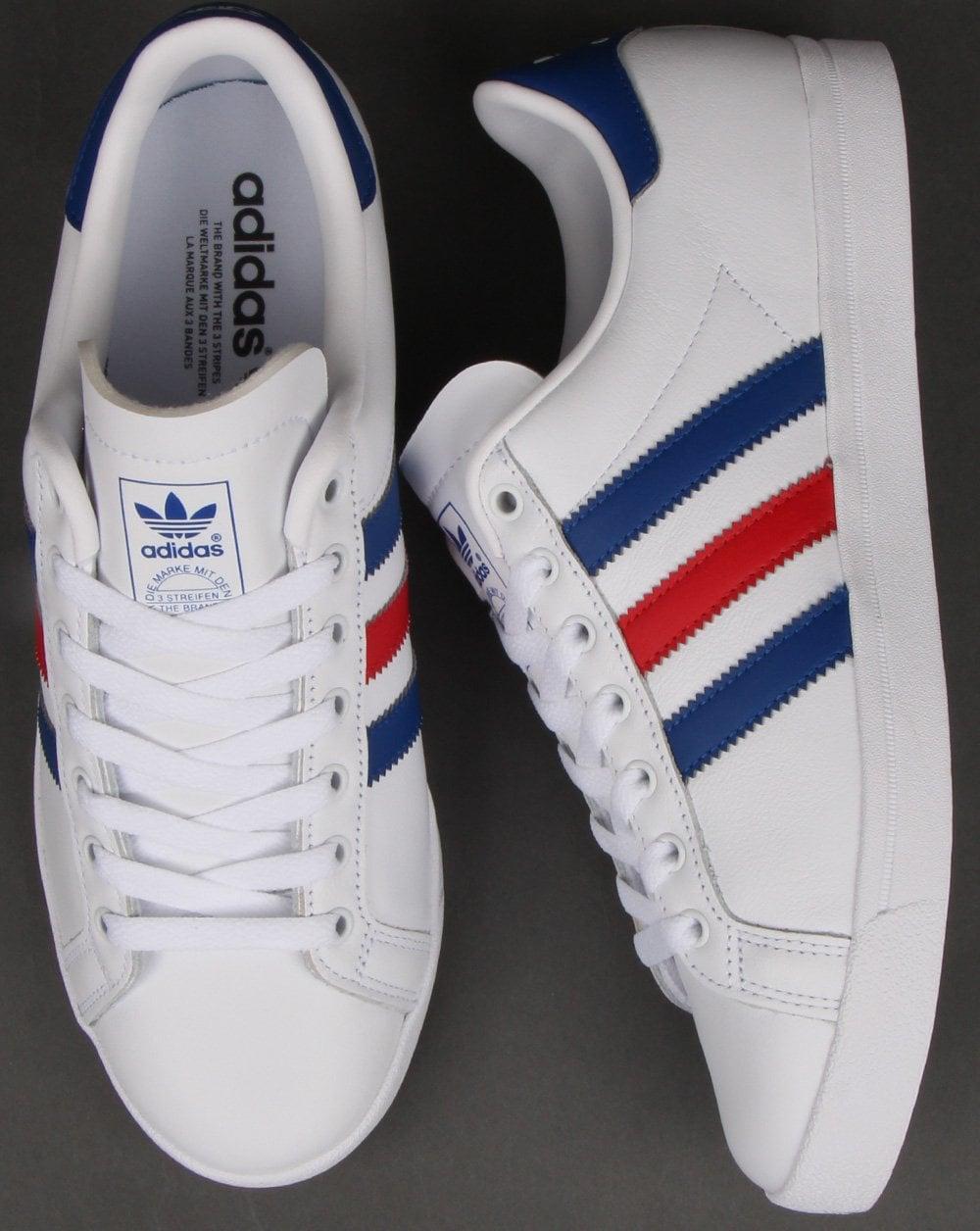 buty na codzień buty do biegania oficjalne zdjęcia Adidas Coast Star Trainers White/Royal/Red