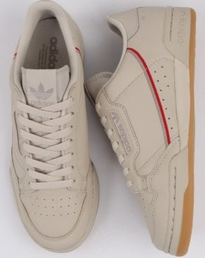 huge discount 73e47 d5e99 adidas Trainers Adidas Continental 80 Trainers Clear Brown scarlet