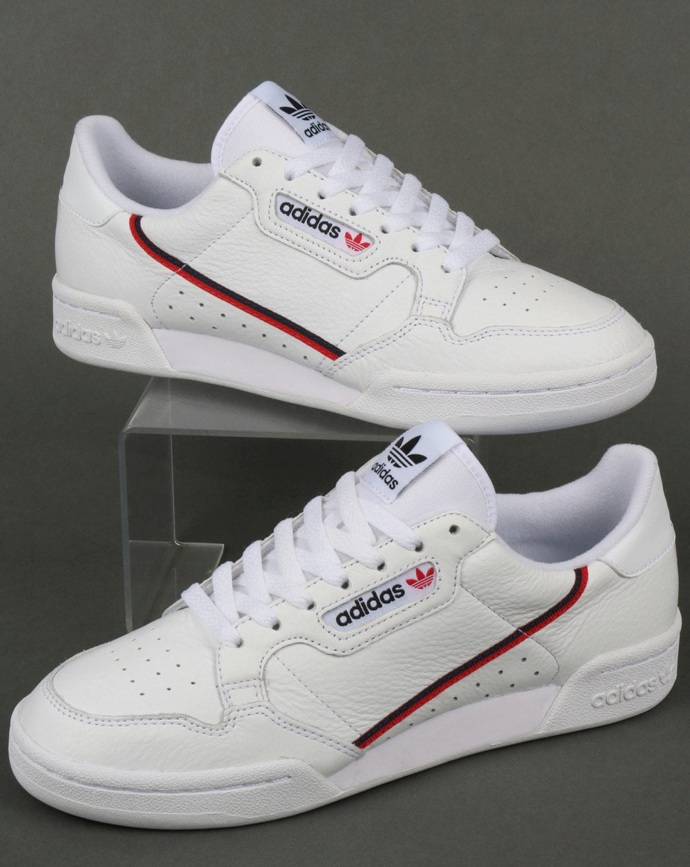 official photos 5c2f3 5d9ce adidas Trainers Adidas Continental 80 Trainers WhiteRedNavy