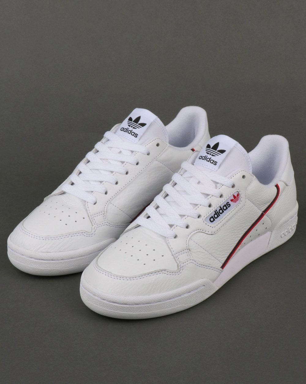 Adidas Continental 80 Trainers White Red Navy 7b696dbe2