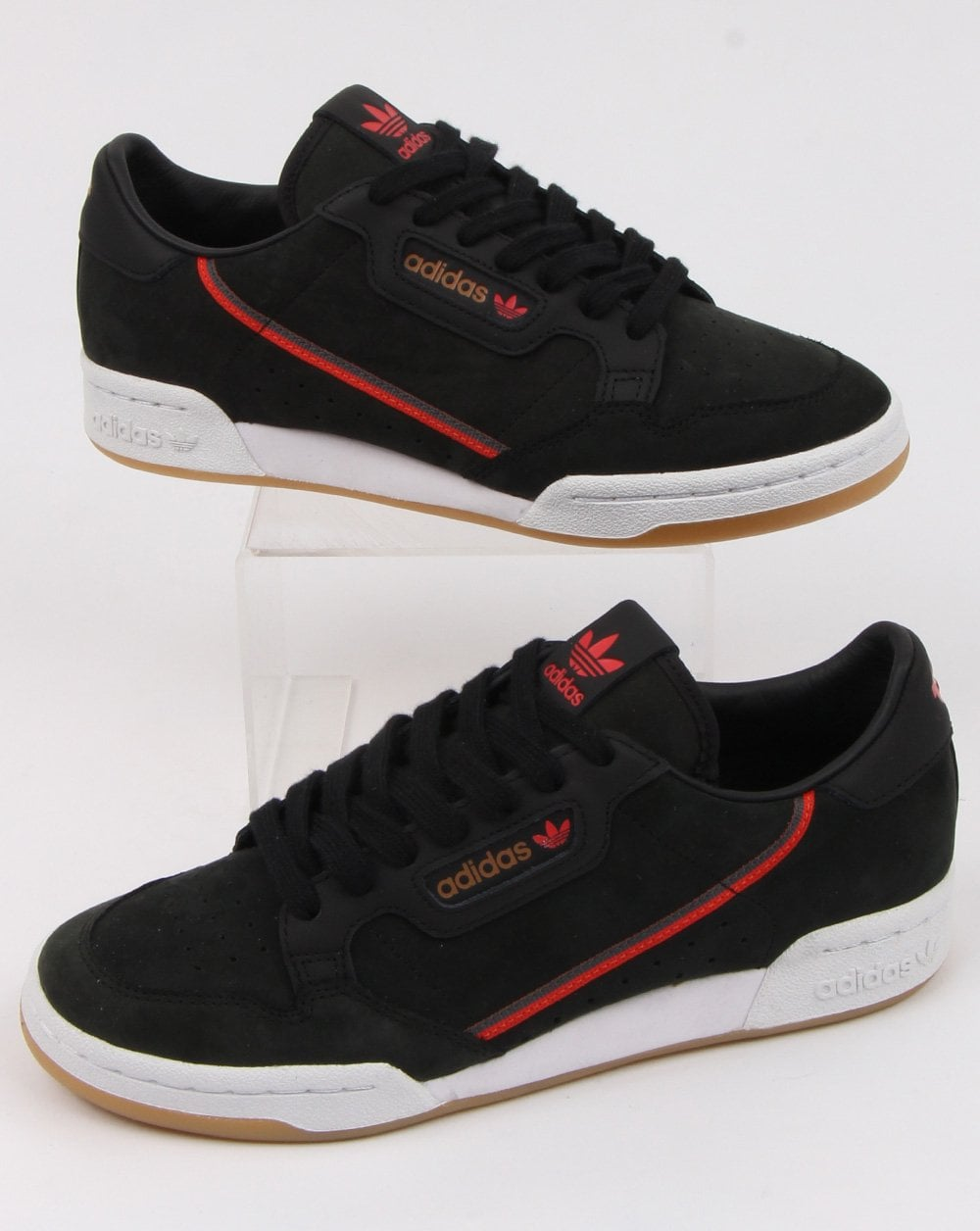 adidas Trainers Adidas Continental 80 x TFL Trainers Black red brown 4ad5127a0
