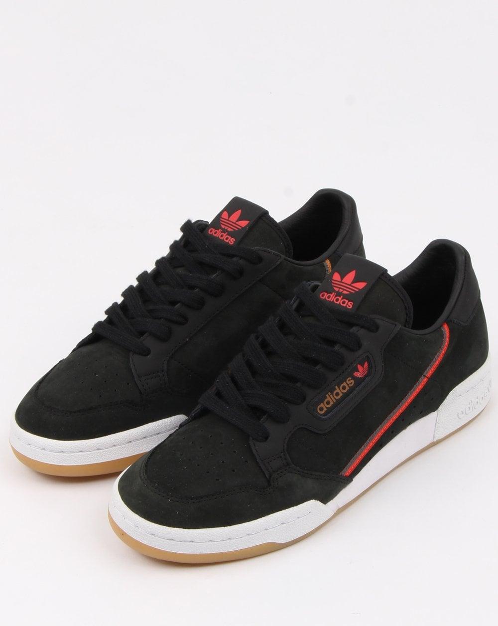 Adidas Continental 80 x TFL Trainers Black red brown 8392365ec