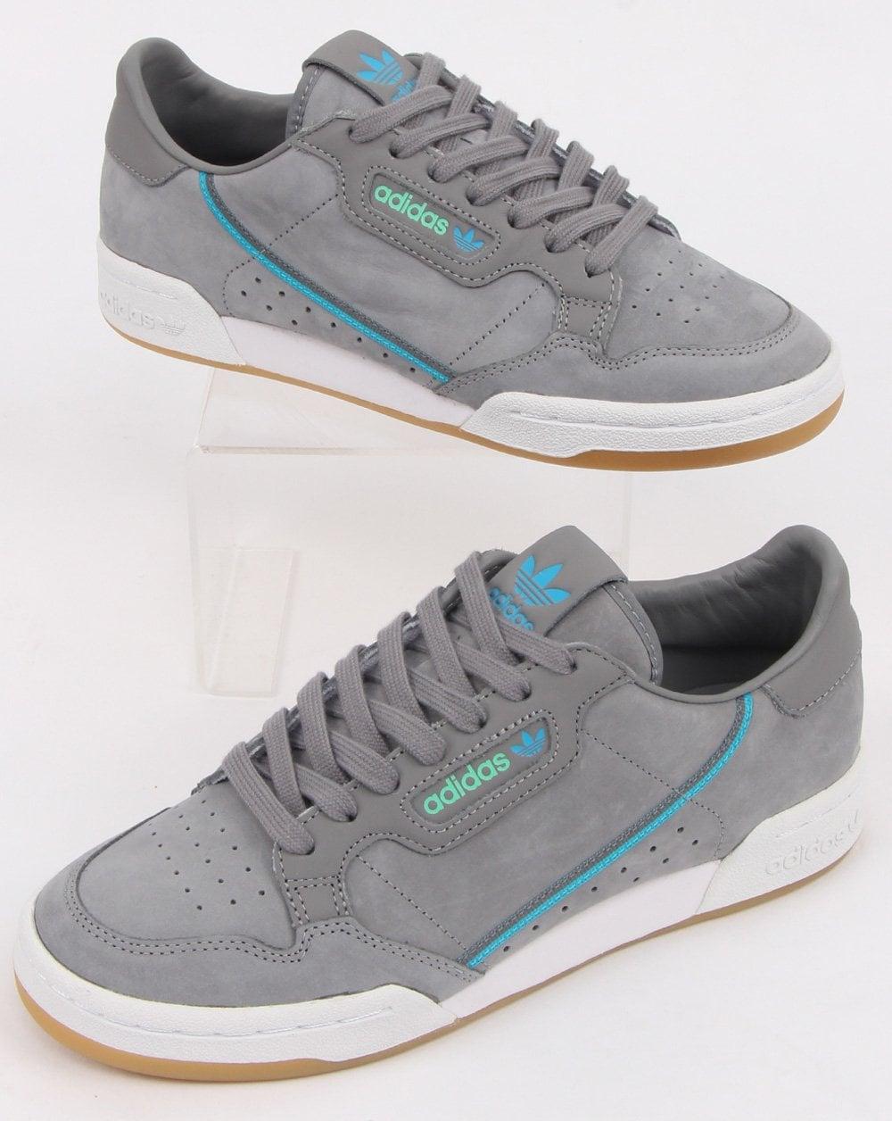 d204abba56e Adidas Continental 80 x TFL Trainers Grey/blue/green