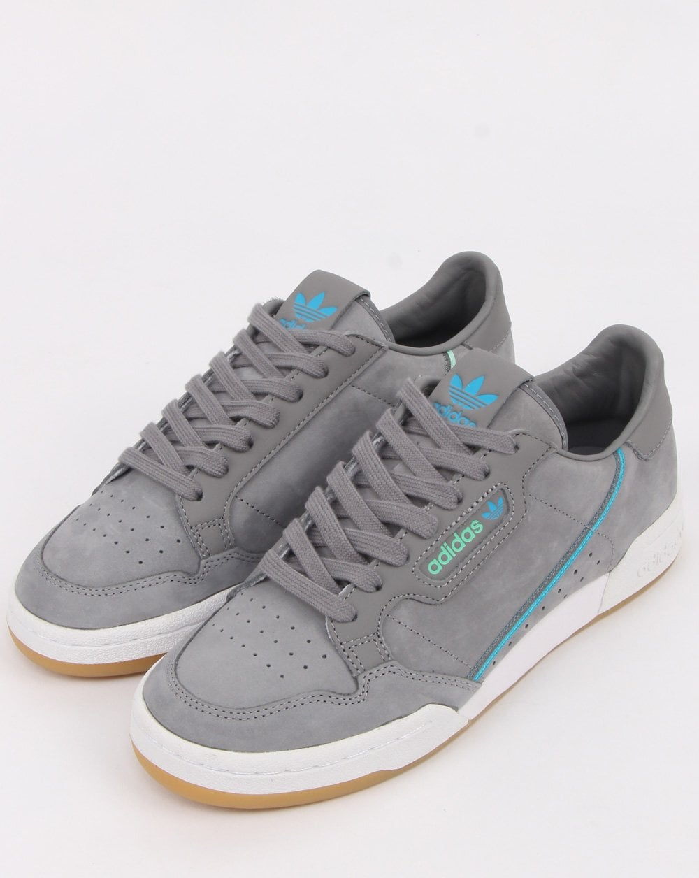 online retailer e3596 7a578 Adidas Continental 80 x TFL Trainers Grey/blue/green