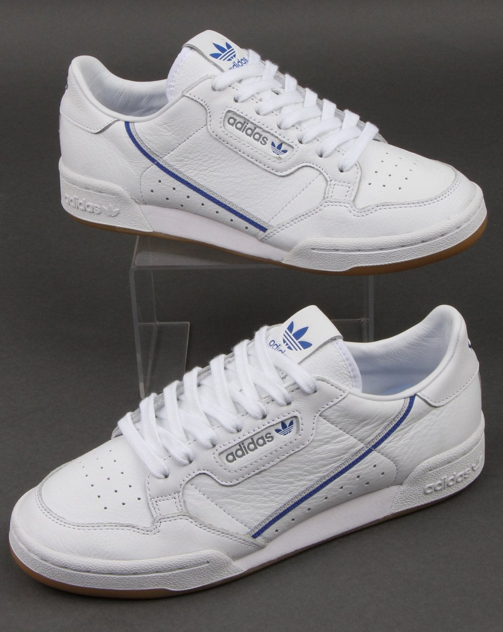 elegante Característica Enfriarse  Adidas Continental 80 Trainers White/Grey/Blue,leather,retro,TFL