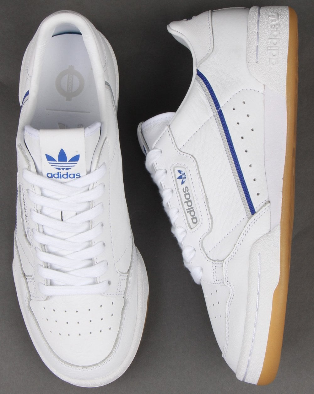 0d5a4d79f67 Adidas Continental 80 x TFL Trainers White grey blue