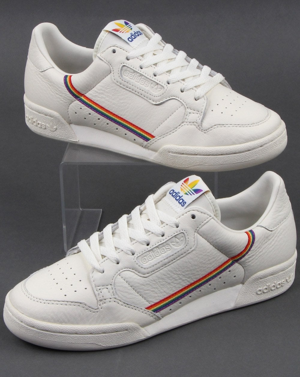 Adidas Continental 80s Pride Trainers White- Multi