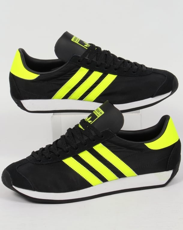Adidas Country OG Trainers Black/Solar Yellow