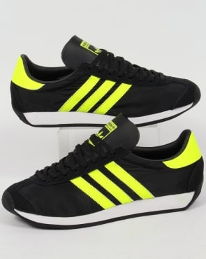 Adidas Trainers Adidas Country OG Trainers Black/Solar Yellow