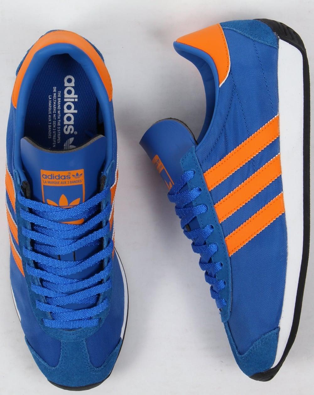 adidas trainers blue with orange