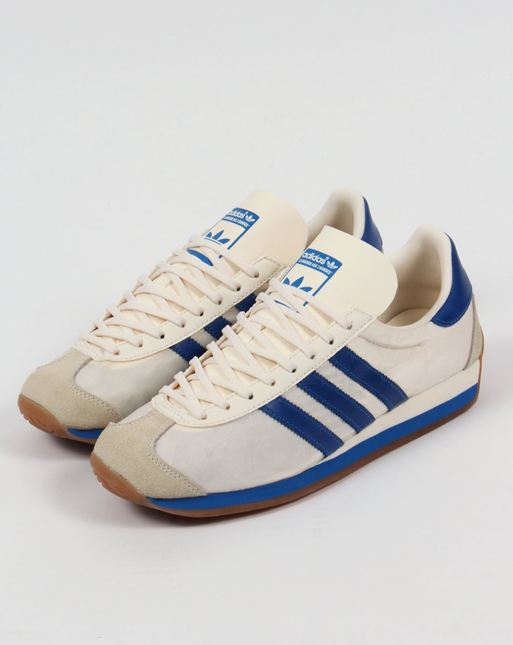 Adidas Country OG Trainers Chalk White/Bluebird