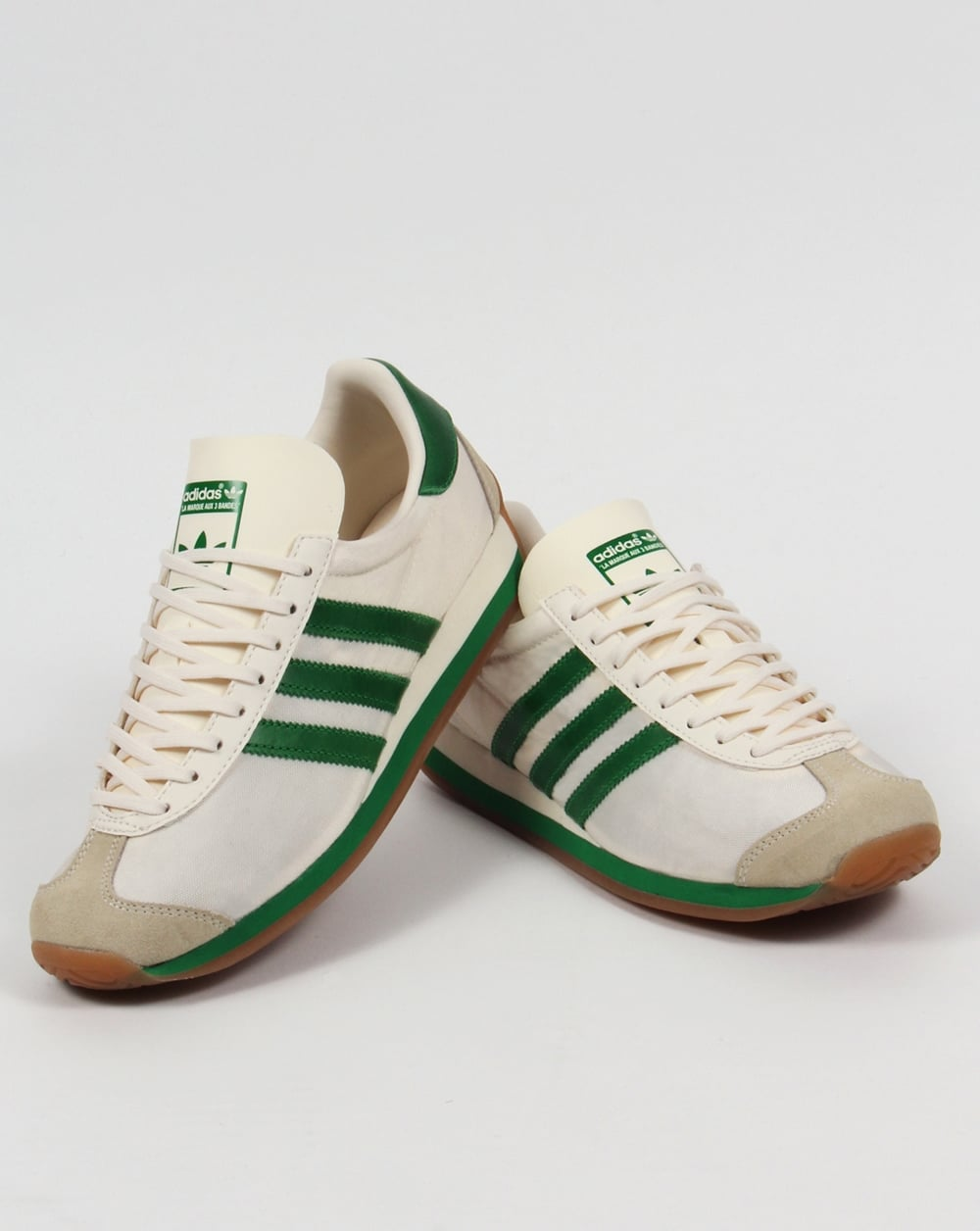 Adidas Country OG Trainers Chalk White/Green. Code: 00040191