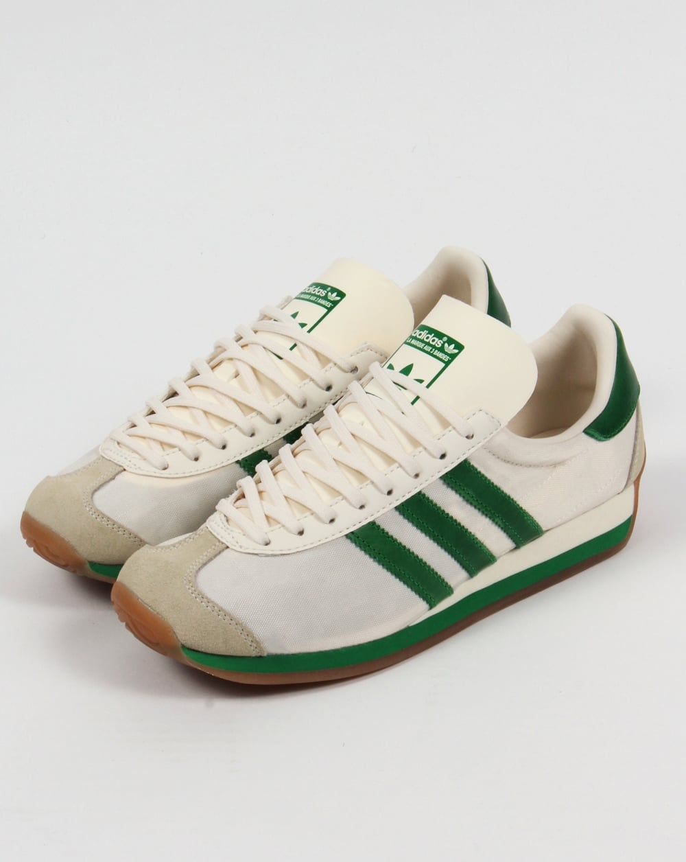69694578afc7 Adidas Country OG Trainers Chalk White Green