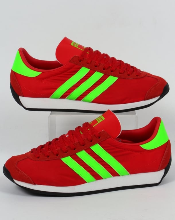 Adidas Country OG Trainers Red/Solar Green