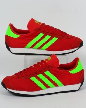 Adidas Trainers Adidas Country OG Trainers Red/Solar Green