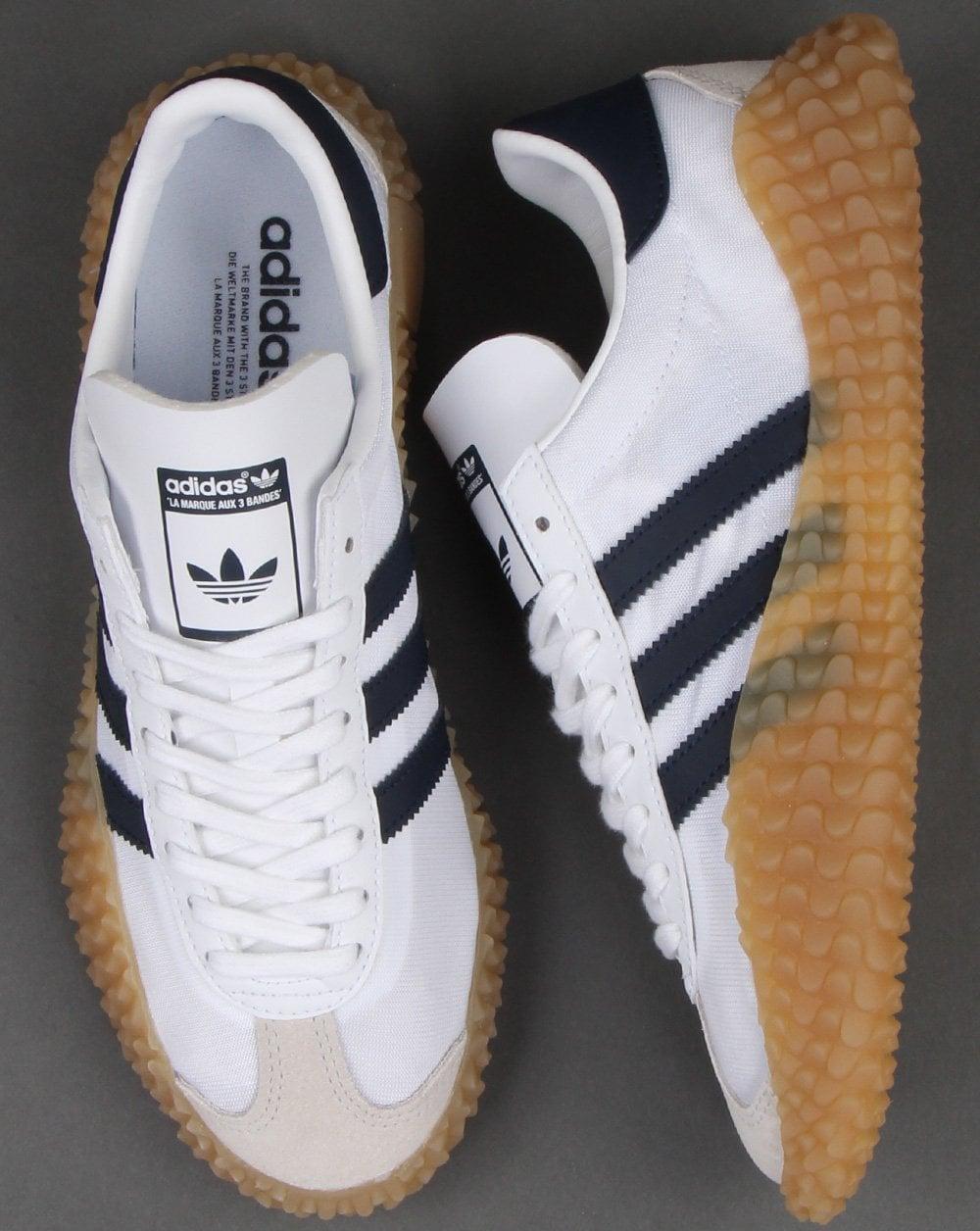 reputación primero amplia selección de colores y diseños Precio 50% Adidas Country X Kamanda Trainers White/Navy - Shop Adidas At 80sCC