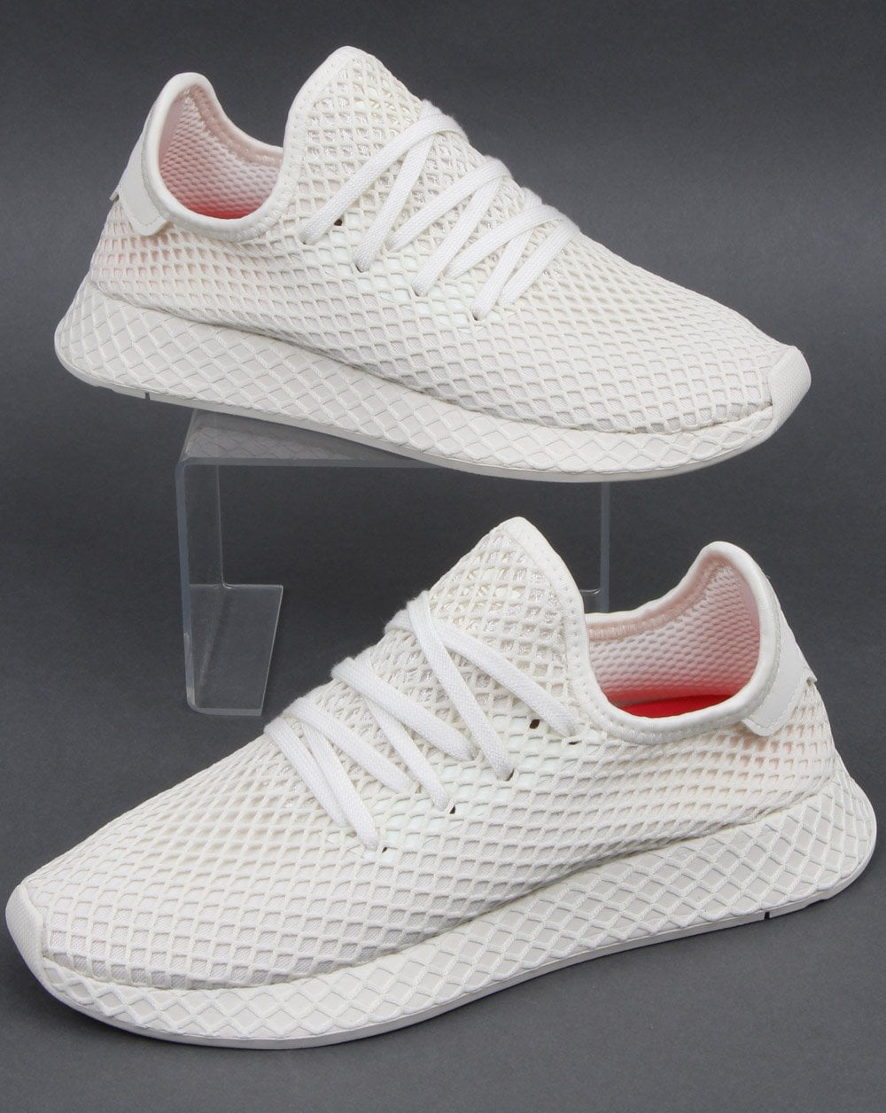 9d276065 Adidas Deerupt Comfort Trainers White/Shock Red
