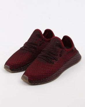adidas Trainers Adidas Deerupt Runner Trainers Burgundy/ash Green