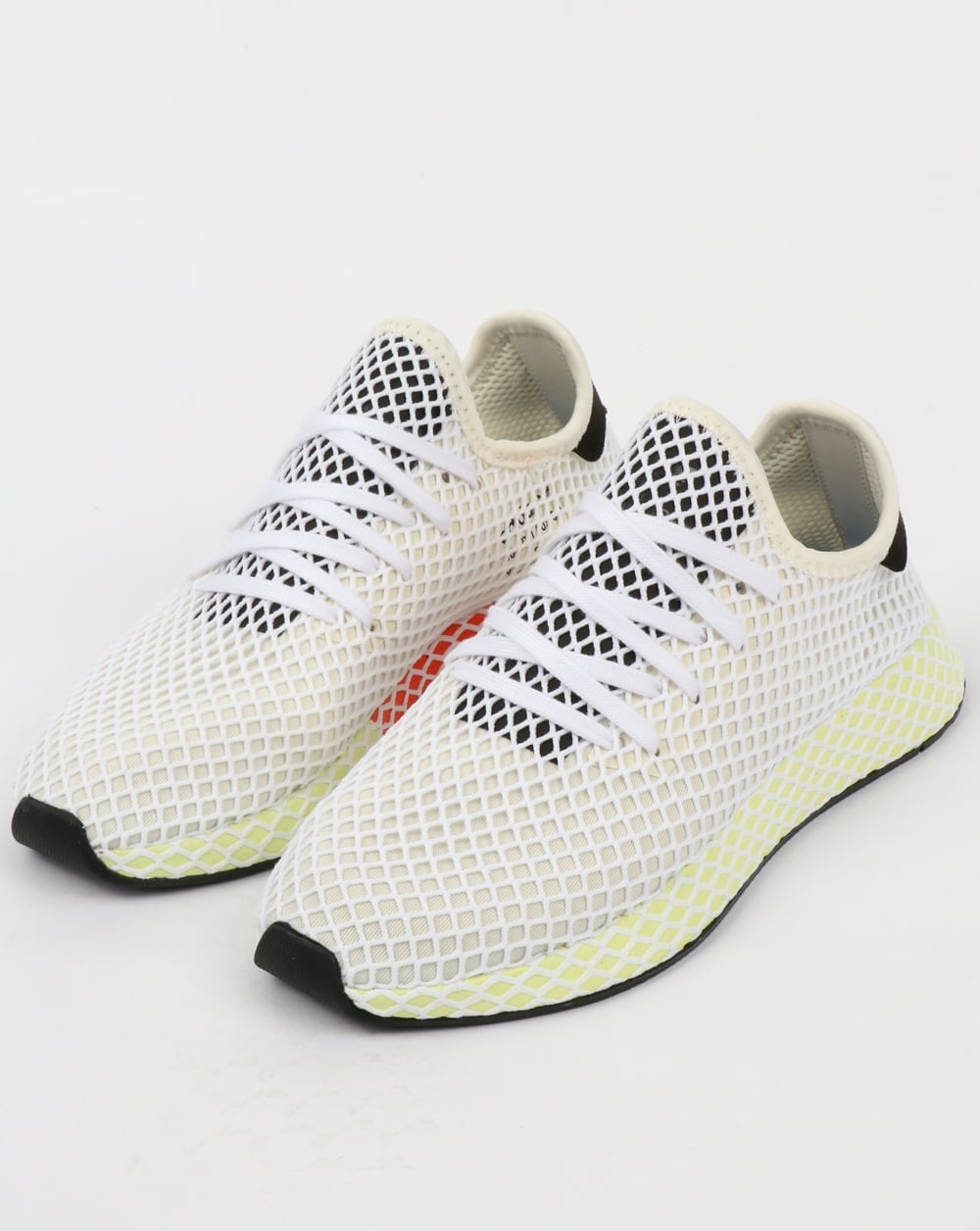 new styles d9988 1a480 adidas Trainers Adidas Deerupt Runner Trainers Chalk WhiteBlack
