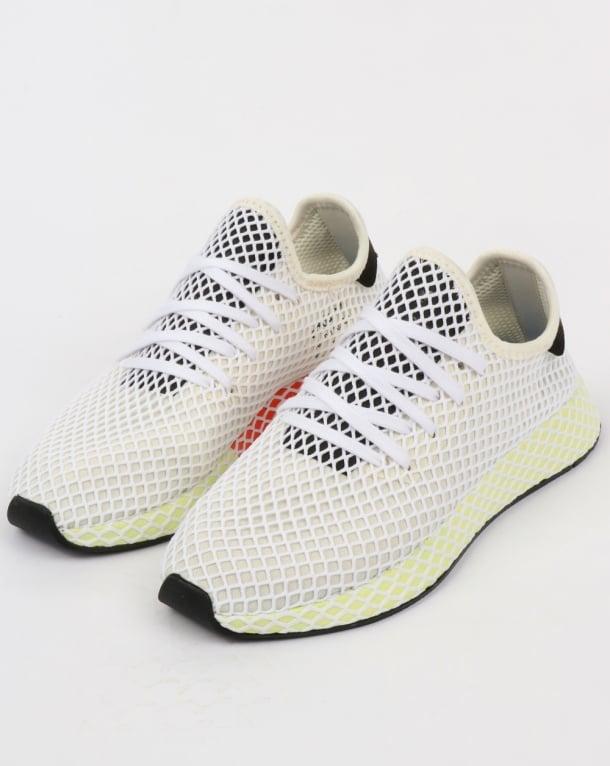 19ec7790168 adidas Trainers Adidas Deerupt Runner Trainers Chalk White Black