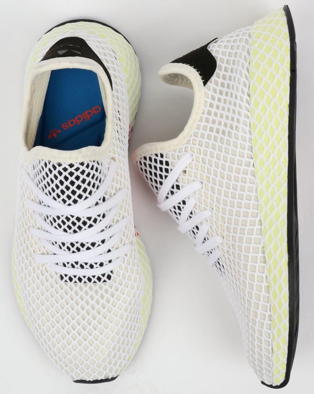 new arrival a1f94 a4d7b Adidas Deerupt Runner Trainers Chalk WhiteBlack