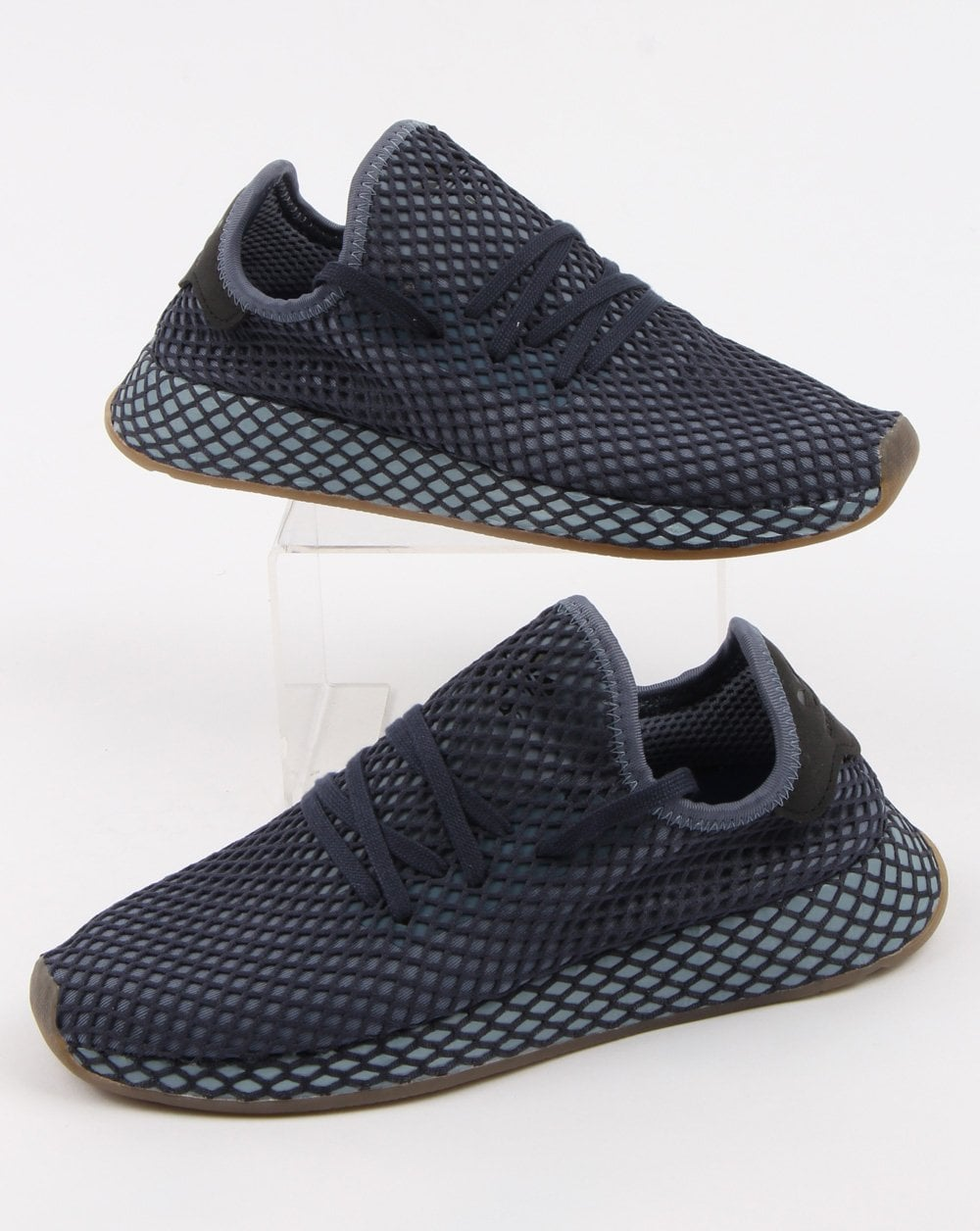 online retailer b3d6b 225b7 Adidas Deerupt Runner Trainers Dark Blueash Blue