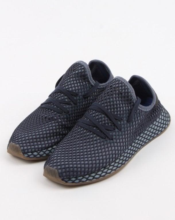 newest b220c f19cd adidas Trainers Adidas Deerupt Runner Trainers Dark Blueash Blue