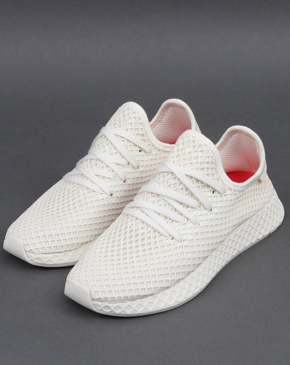 ef5839276d3 Adidas Deerupt Runner Trainers White Red - Shop Adidas Here At 80sCC