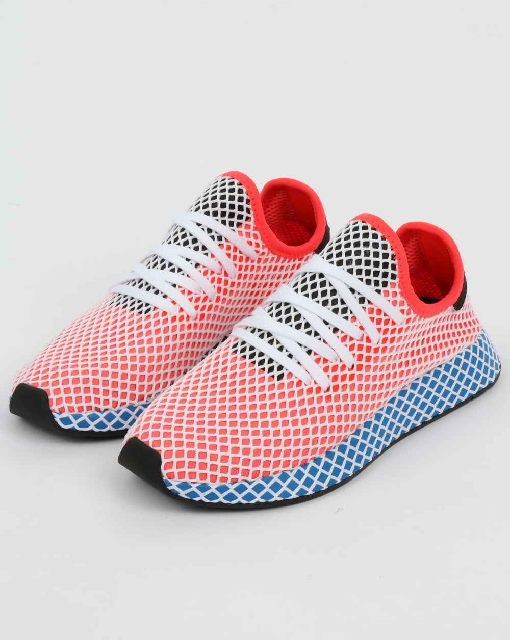 168f252a46a adidas Trainers Adidas Deerupt Runner Trainers Solar Red Bluebird