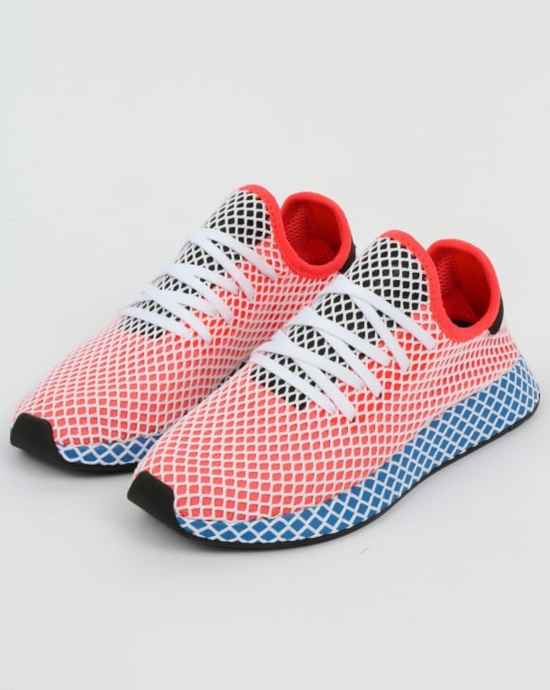 the best attitude cc8be 9b1db adidas Trainers Adidas Deerupt Runner Trainers Solar RedBluebird
