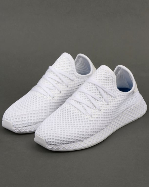 Adidas Deerupt Runner White, trainers | 80s casual classics Caterpillar Shoes