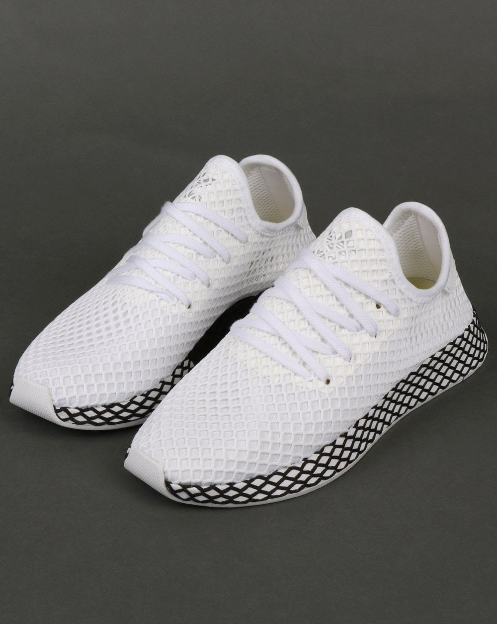 294a0a4417f02 adidas Trainers Adidas Deerupt Runner Trainers White White Black
