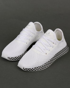 adidas Trainers Adidas Deerupt Runner Trainers White/White/Black