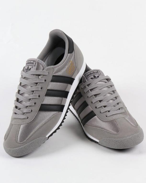 adidas dragon grey black mesh trainers online -