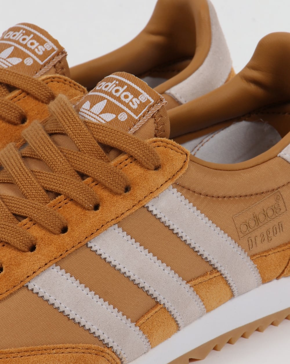 brown adidas dragon trainers