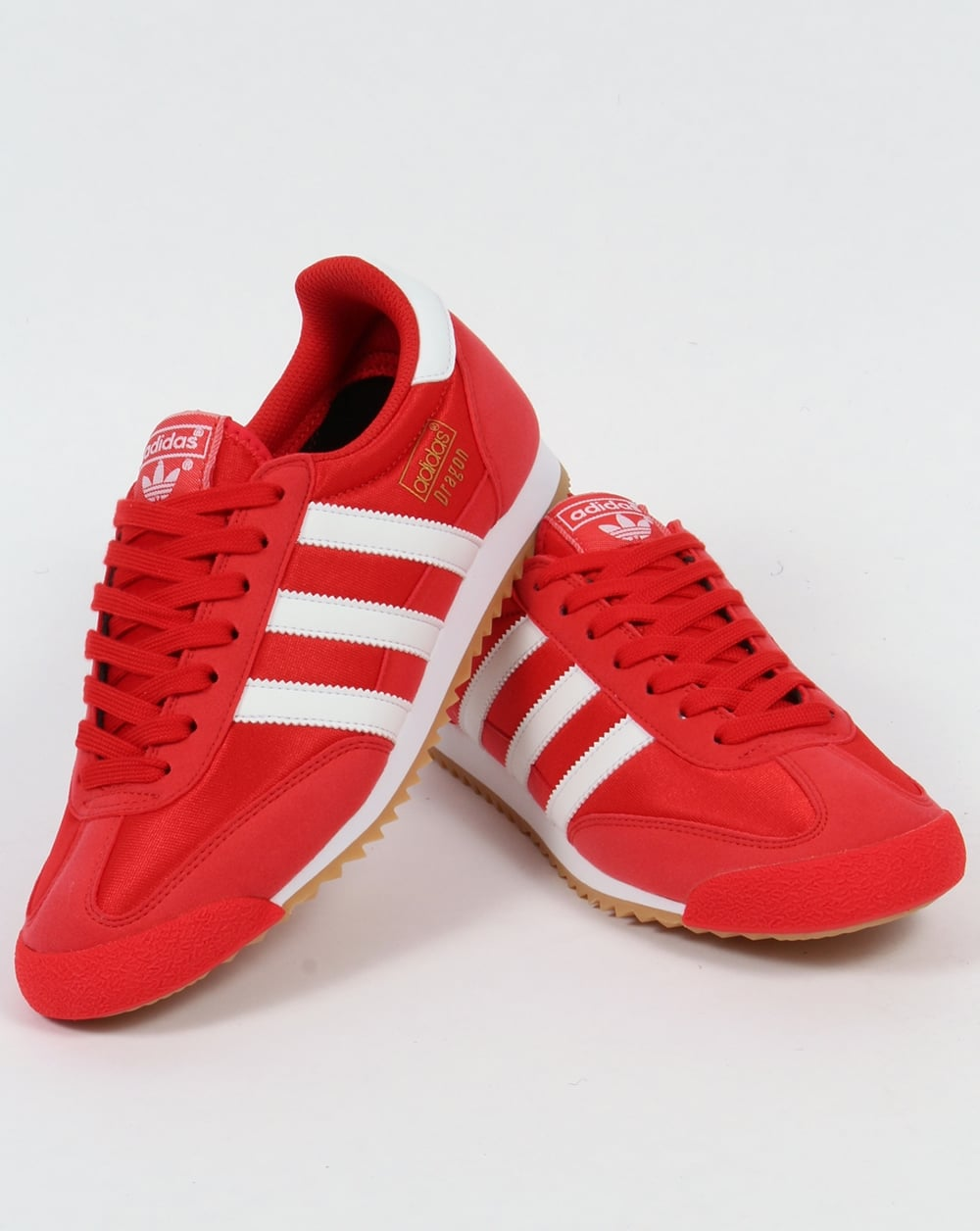 adidas dragon trainers blue and red