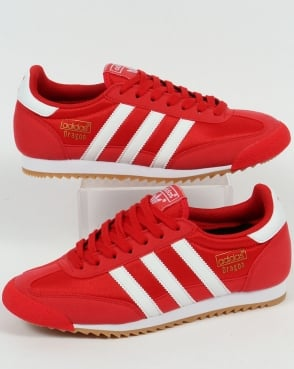 Adidas Dragon Trainers Red/White