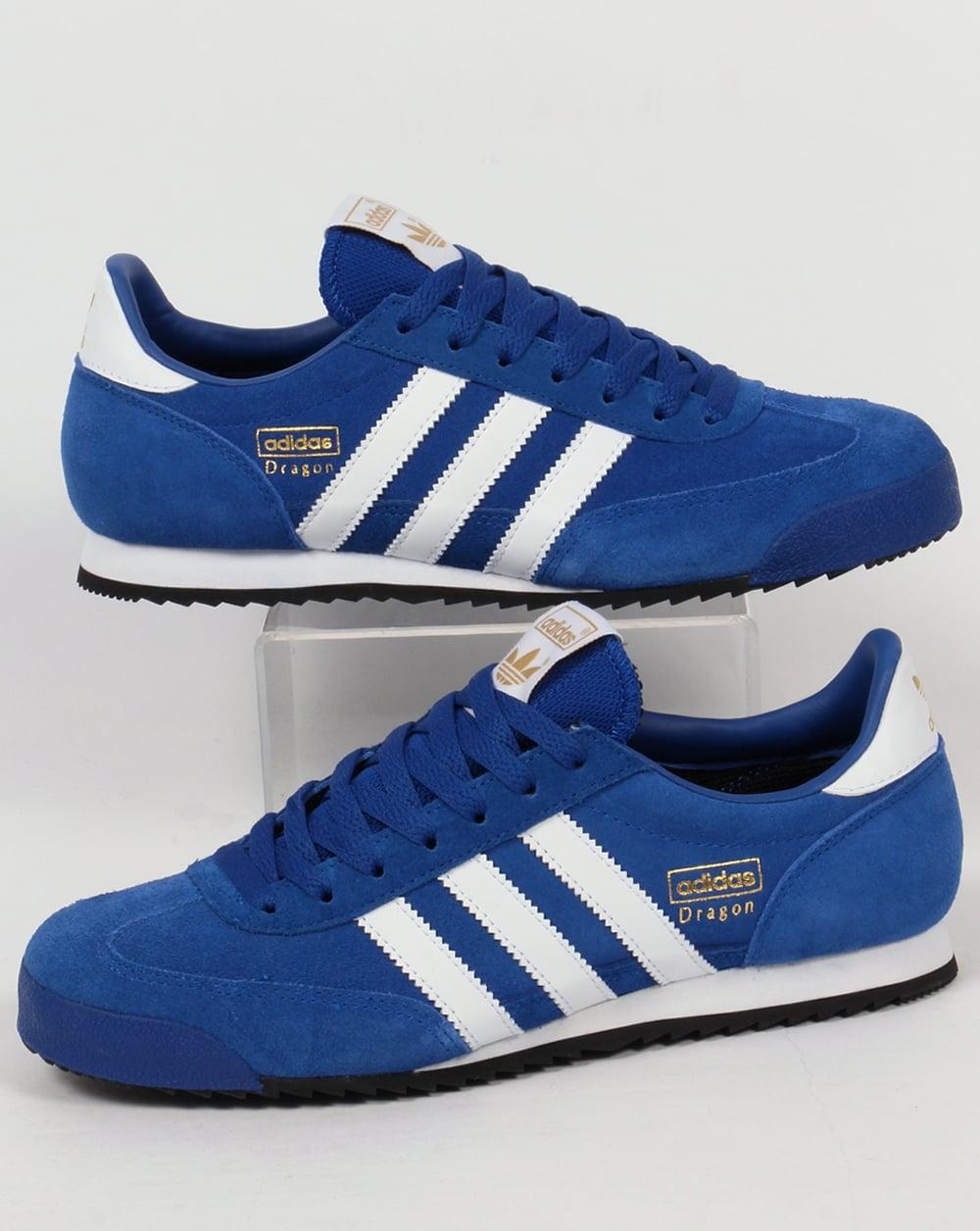 8ea47d00322e4e adidas Trainers Adidas Dragon Trainers Royal White Black