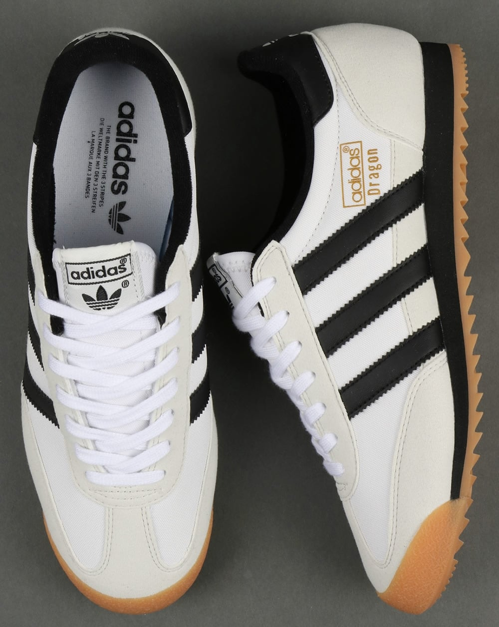 Adidas Dragon Trainers WhiteBlackGum