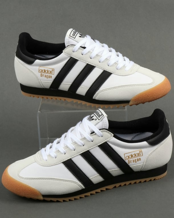 Adidas Dragon Trainers White/Black/Gum