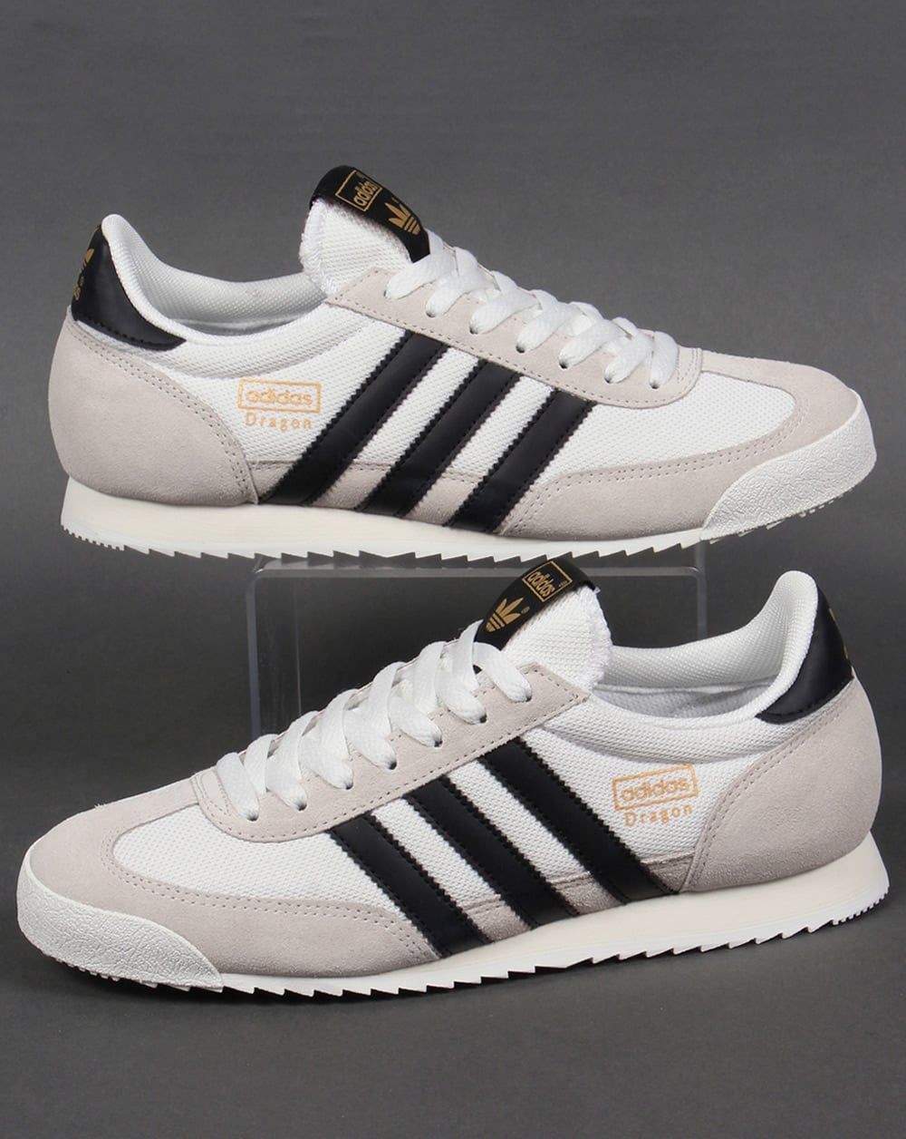 more photos f79ba 75bc0 adidas Trainers Adidas Dragon Trainers White Black