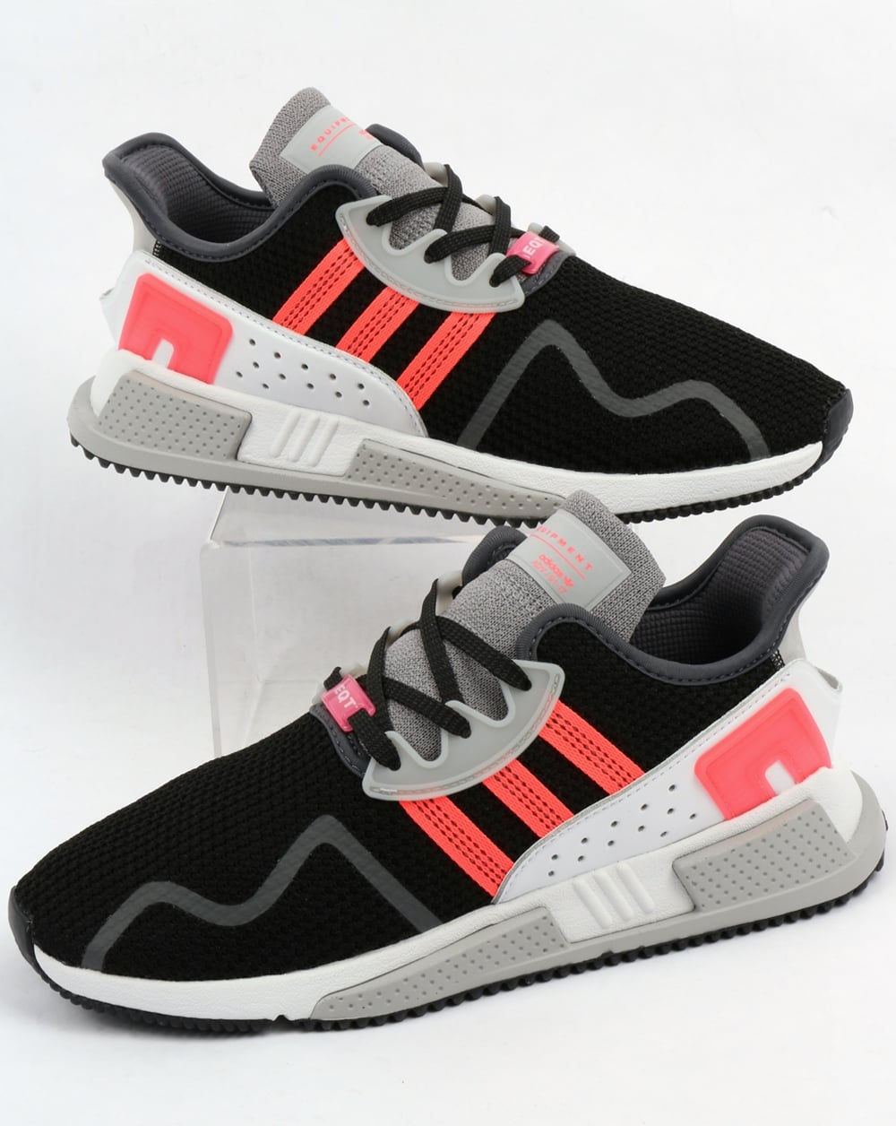 newest 72ed3 9acab Adidas EQT Cushion Adv Trainers Black/Pink/White
