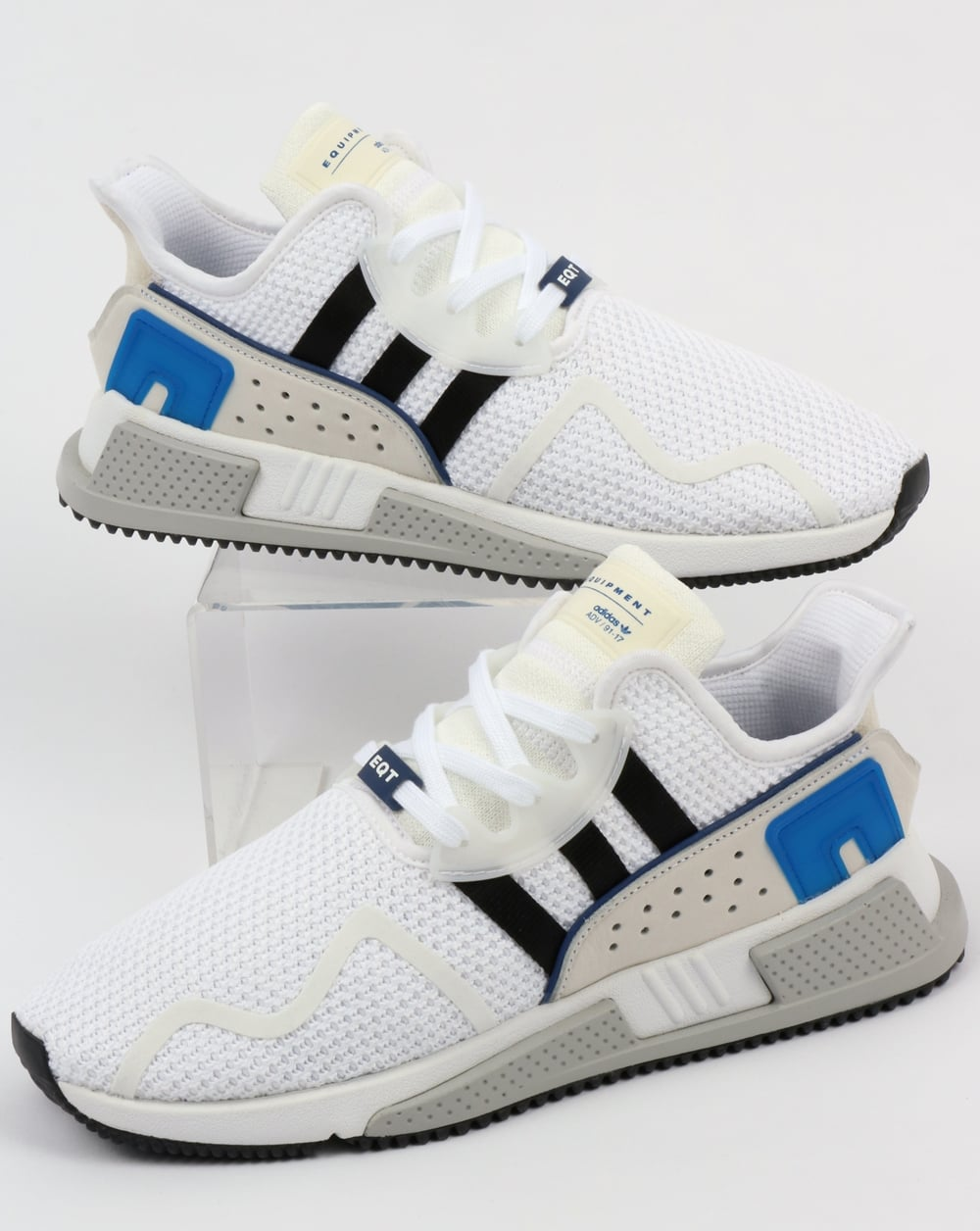 save off b2e3c 4809d Adidas EQT Cushion ADV Trainers White/Black/Royal