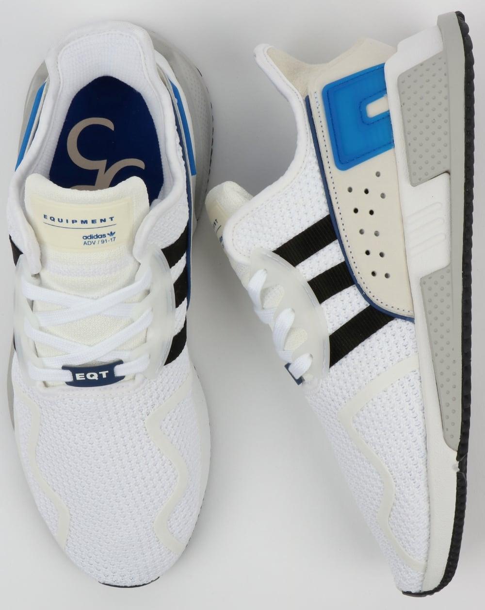 separation shoes 826ea ae01b Adidas EQT Cushion ADV Trainers WhiteBlackRoyal