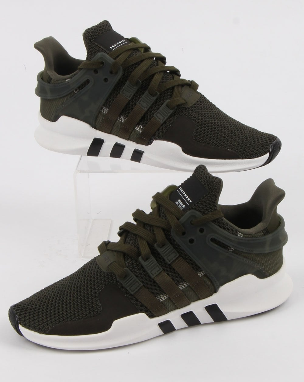 adidas Trainers Adidas Eqt Support Adv Night Cargo white black d261f2428