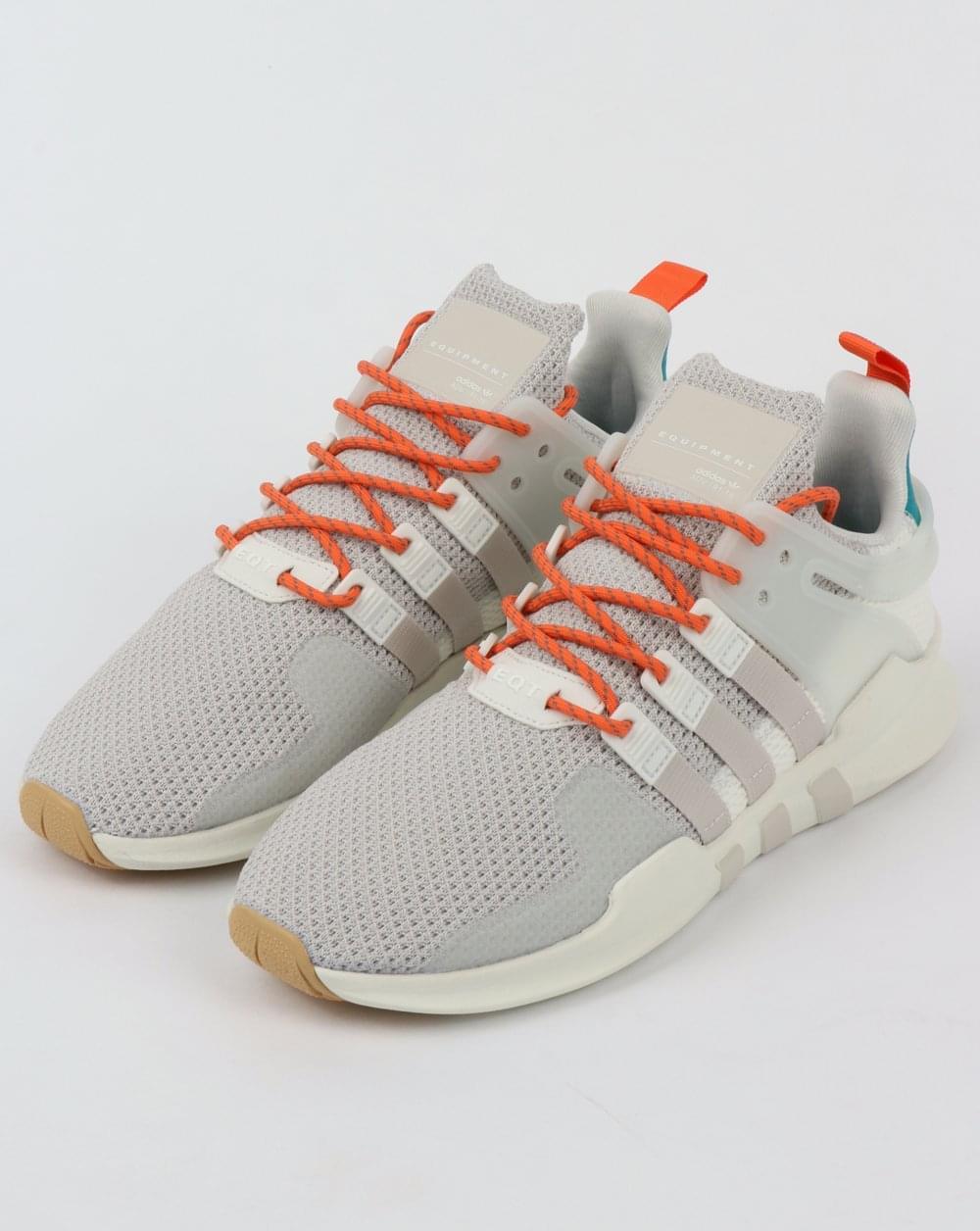 designer fashion 84728 04add Adidas EQT Support Adv Summer Trainers WhiteChalk