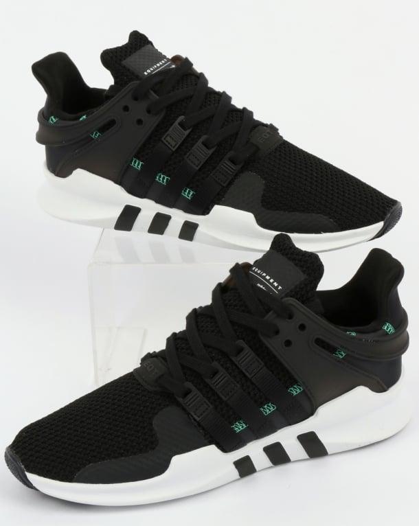 Adidas EQT Support ADV Trainers Black/Black/White