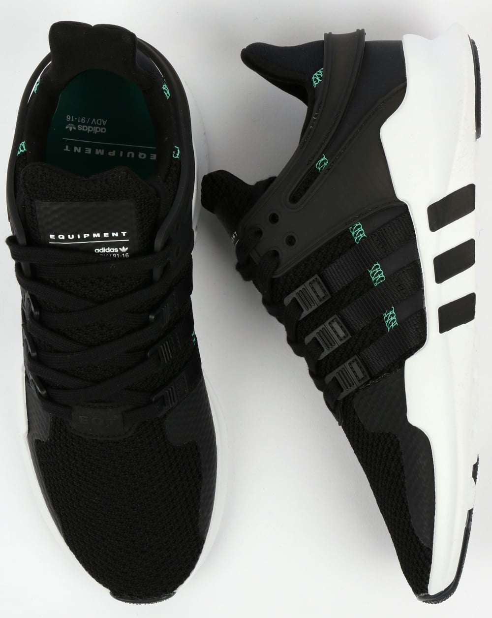best website 86d54 d79aa Adidas EQT Support ADV Trainers Black/Black/White